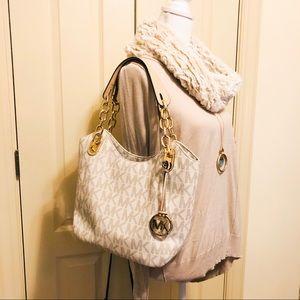 Michael Kors purse medium with tan interior